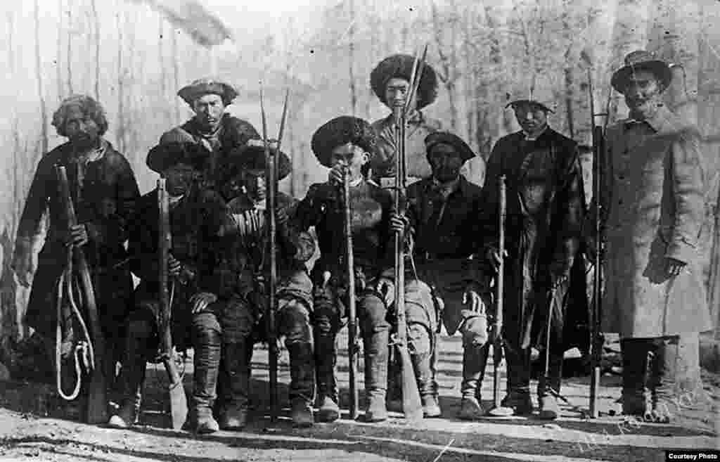 Кыргызы-охотники.