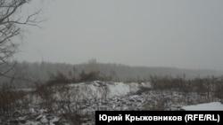 Полигон под снегом