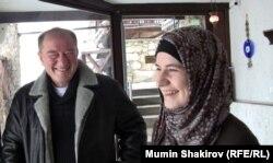 Ильми Умеров в кафе Мусафир (Бахчисарай)