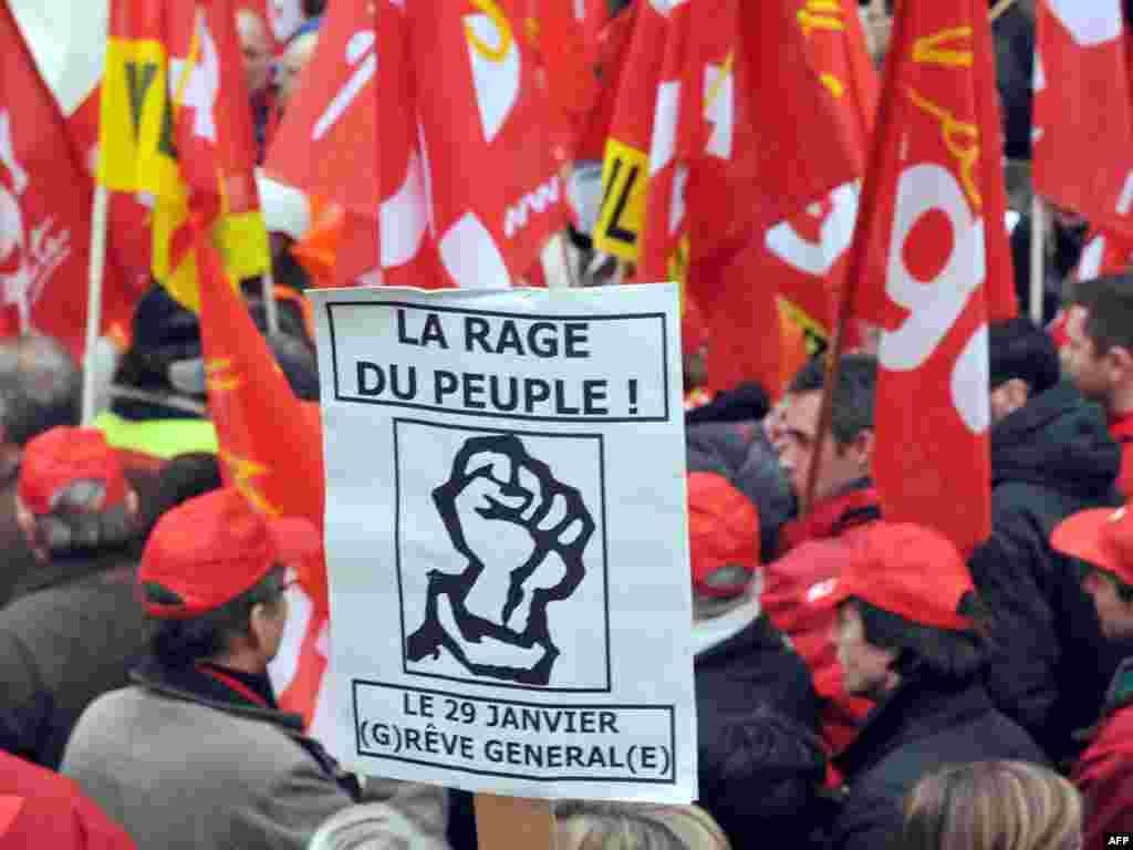 اعتصابکنندگان در آنگولم (غرب فرانسه)