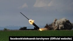 A Ukrainian missile test on May 27