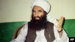 Хаккани желісінің негізін қалаған Жалалуддин Хаккани. Пәкістан 22 тамыз 1998 жыл.