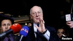 Спецпосланник ООН по Сирии Стаффан де Мистура, Женева, 3 февраля 2016 года.