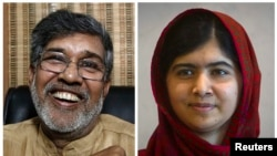 After sharing this year's Nobel Peace Prize with Malala Yousafzai (right), Kailash Satyarthi (left) is hoping to join forces with the Pakistani schoolgirl to help raise awareness about children's rights in the South Asia region.
