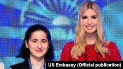 Reyhan Camalova və Ivanka Trump, Qlobal Sahibkarlıq Sammitində.