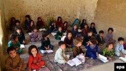 An Afghan refugees school in southwestern Pakistan.