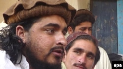Hakimullah Mehsud (left), pictured in October