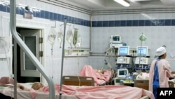 Burn victims from the Lame Horse nightclub blaze in Perm at a St. Petersburg hospital on December 7