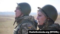 Жінки-військові тренуються на Яворівському полігоні, Львів, 6 березня 2016 року