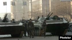 Զինված ուժերի զինվորները Երևանում, արխիվ
