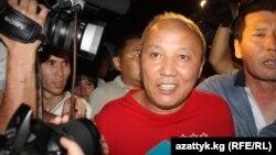 Бывший мэр Бишкека Нариман Тулеев после ареста. Бишкек, 22 июня 2012 года.