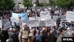 Протести на работниците во Приштина на 1 мај