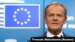 Еуропа кеңесінің төрағасы Дональд Туск. Брюссель, 29 маусым 2018 жыл.