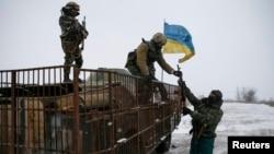 Українські військовослужбовці у Дебальцеві. 16 лютого 2015 року