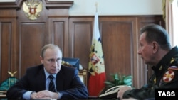 Орусия президенти Владимир Путин, Росгвардиянын башчысы Виктор Золотов.