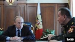 Владимир Путин и глава Росгвардии Виктор Золотов