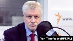 Сергей миронов в московской студии Радио Свобода