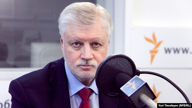 Sergei Mironov, chairman of A Just Russia
