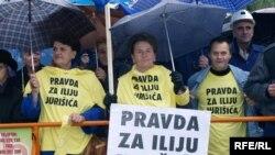 Sa prosvjeda zbog presude Iliji Jurišiću, Tuzla, oktobar prošle godine, Foto: Maja Nikolić