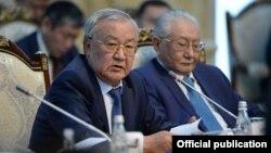 Жогорку Кеңештин мурдагы төрагасы, коомдук ишмер Абдыганы Эркебаев.