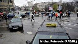 Taksisti blokirali saobraćaj u Sarajevu