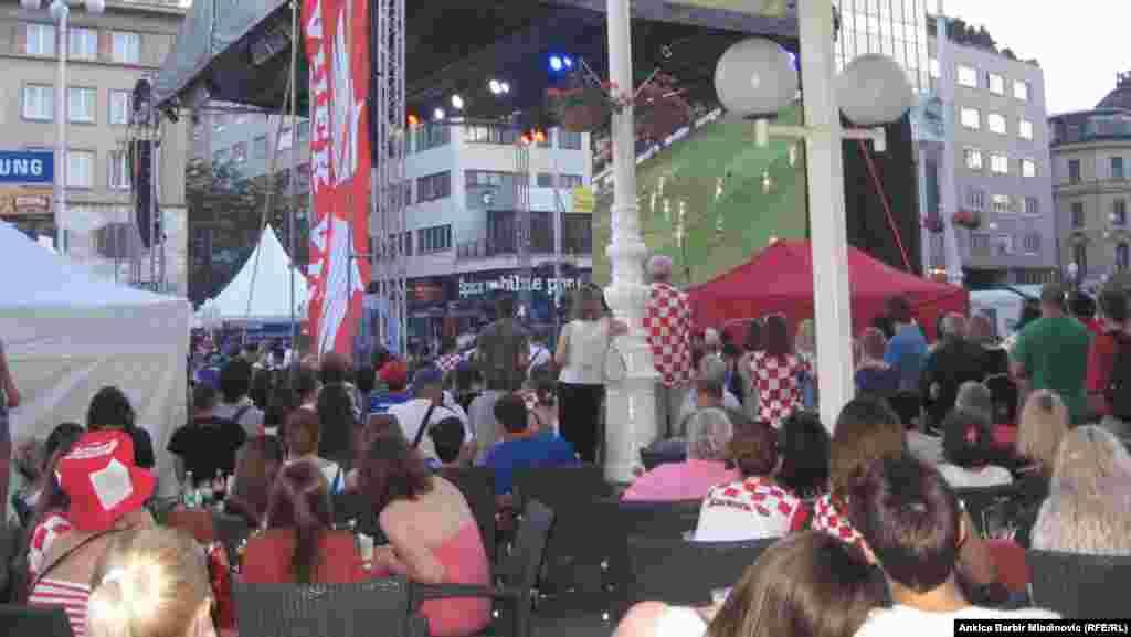 Hrvatska - Centralni trg u Zagrebu, juni, 2012. Foto: RSE / Ankica Barbir Mladinović