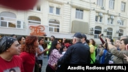 Акция в защиту прав женщин прошла в Баку. 20 октября 2019 года.