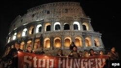 """Рим - Акција """"Запрете ја гладта"""""""