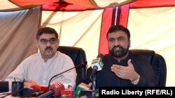 د بلوچستان پخوانی کورنیو چارو وزیر سرفراز بوګټی او حکومتي ویاند انوارلحق کاکړ