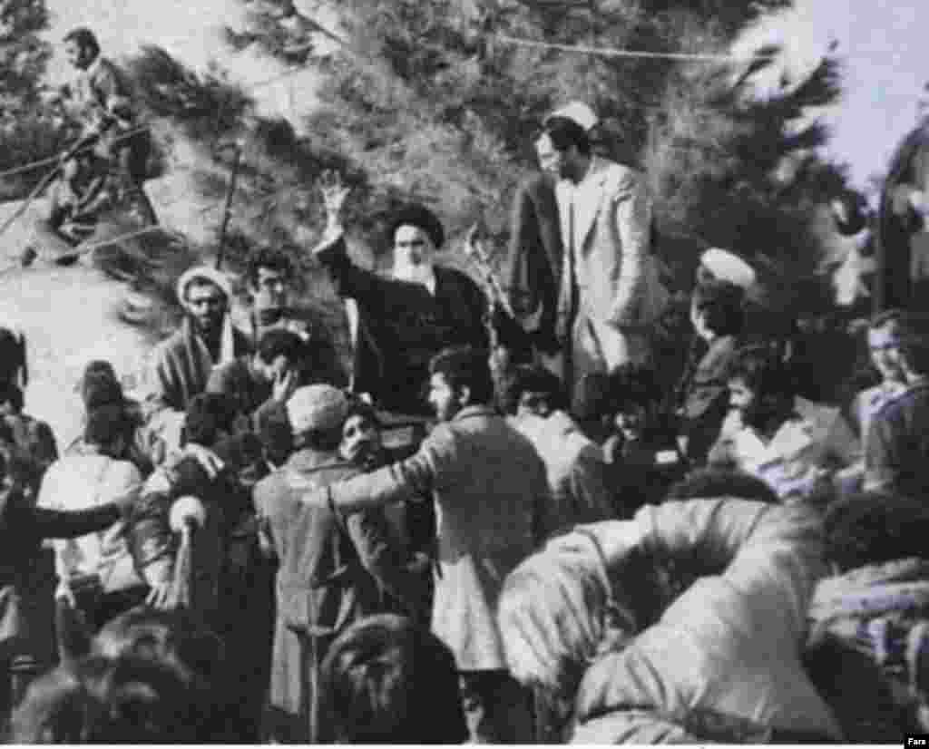 "Khomeini gave his first speech in Iran at Tehran's Behesht Zahra Cemetery (Fars)) - Tens of thousands gathered to hear Khomeini's first speech in a Tehran cemetery. He rejected Bakhtiar's government and appointed his own interim prime minister, Mehdi Bazargan. He declared that opposition to him was a ""revolt against God."""