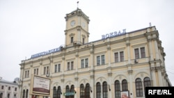 Protestors claim a depot at Moscow's Leningrad train station (pictured) is an historic architectural monument.