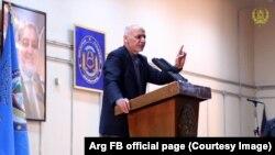 Ashraf Ghani gjatë një konference për gazetarë në Kabul