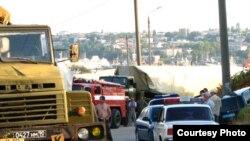 Севастопольська міліція затримала російські крилаті ракети, що перевозилися містом, 8 липня 2009 р. (фото надане Проектом «Флот-2017»)