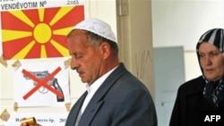 Tetovë - Pamje nga votimet e djeshme, 15 qershor 2008.