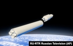 "Animație demonstrând capacitățile sistemului de rachete ""Avangard"""