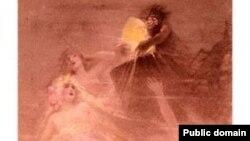 Дочери Рейна и Альберих (иллюстрация к «Золоту Рейна»)