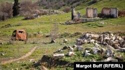Azerbaijan - ruins in the ghost town of Agdam, near Nagorno-Karabakh