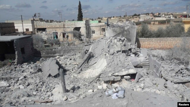 Activists say more than 140 people, including dozens of women and children, were killed in missile strikes by the Syrian government in and near the city of Aleppo last week.