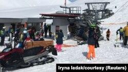 Жичарницата по несреќата во ски центарот во Грузија