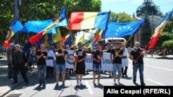 Marș organizat de Consiliul Unirii la Chișinău, 28 iunie 2014