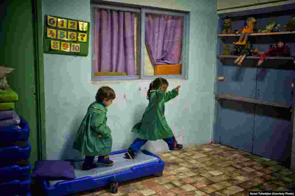Uruguay is home to one of South America's oldest Armenian communities, estimated at some 19,000 people. Here, two young students play at St. Nerses Shnorhali, an Armenian Apostolic church in the capital, Montevideo.