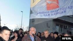 Монтенегро - Подгорицадагы жумушчулардын нааразылык акциясы, 25-март, 2009-жыл