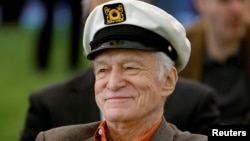 Playboy Magazine founder Hugh Hefner, February 10, 2011