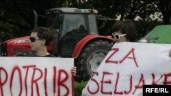 Sa jednog od prosvjeda seljaka, juni 2009, Foto: zoomzg