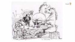 رخش و ذوالجناح در خانه خرسندی به هم چه میگویند؟