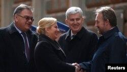 Kolinda Grabar Kitarović sa članovima Predsjedništva BiH