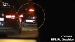 Ввечері 30 жовтня з Офісу президента виїхав автомобіль Skoda