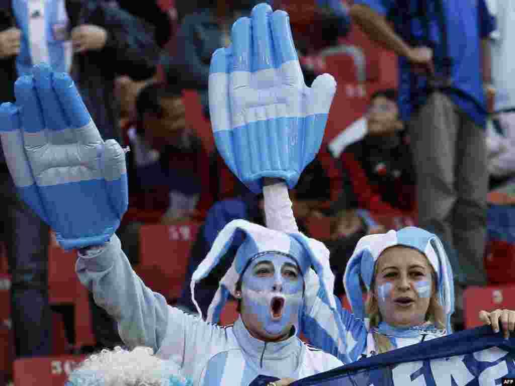 Argentinski navijači Foto: AFP / Thomas Coex