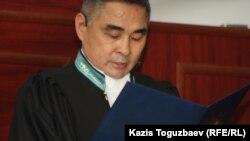 Советхан Сакенов, судья специализированного межрайонного военного суда по уголовным делам. Алматы, 12 апреля 2014 года.