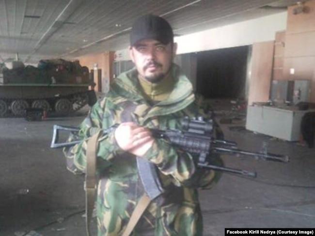 Кирило Недря у Донецькому аеропорті. Жовтень 2014 року